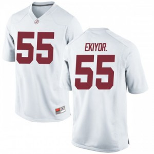Youth Alabama Crimson Tide Emil Ekiyor Jr. #55 College White Replica Football Jersey 575835-791