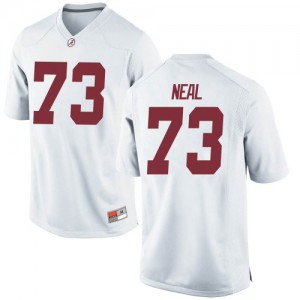 Youth Alabama Crimson Tide Evan Neal #73 College White Game Football Jersey 816001-502