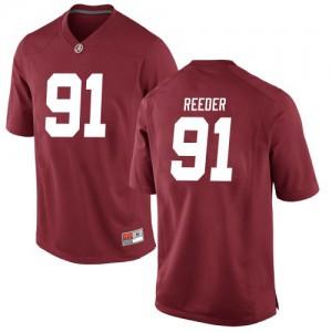 Youth Alabama Crimson Tide Gavin Reeder #91 College Crimson Game Football Jersey 296732-671