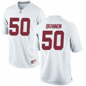 Youth Alabama Crimson Tide Hunter Brannon #50 College White Game Football Jersey 544412-928