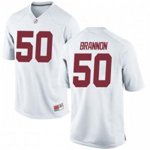 Youth Alabama Crimson Tide Hunter Brannon #50 College White Replica Football Jersey 755005-797