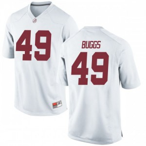 Youth Alabama Crimson Tide Isaiah Buggs #49 College White Game Football Jersey 649208-640