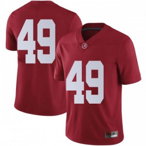 Youth Alabama Crimson Tide Isaiah Buggs #49 College Crimson Limited Football Jersey 814968-741