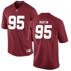 Youth Alabama Crimson Tide Jack Martin #95 College Crimson Replica Football Jersey 975875-509