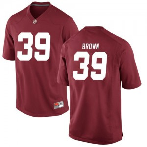 Youth Alabama Crimson Tide Jahi Brown #39 College Brown Replica Crimson Football Jersey 801108-176