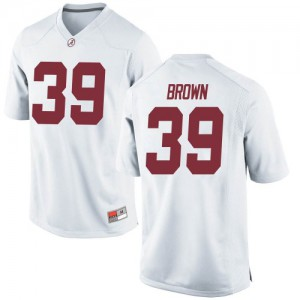 Youth Alabama Crimson Tide Jahi Brown #39 College White Replica Football Jersey 828756-179
