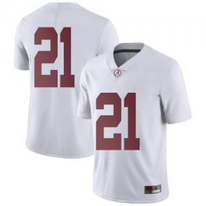 Youth Alabama Crimson Tide Jahquez Robinson #21 College White Limited Football Jersey 127979-724