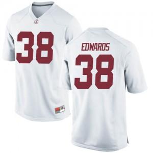 Youth Alabama Crimson Tide Jalen Edwards #38 College White Game Football Jersey 957799-205