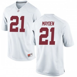 Youth Alabama Crimson Tide Jared Mayden #21 College White Game Football Jersey 369236-831
