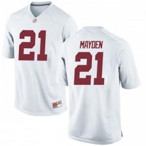 Youth Alabama Crimson Tide Jared Mayden #21 College White Replica Football Jersey 523279-334