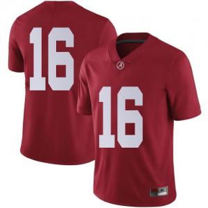 Youth Alabama Crimson Tide Jayden George #16 College Crimson Limited Football Jersey 485921-611