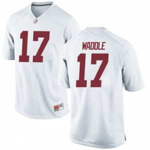 Youth Alabama Crimson Tide Jaylen Waddle #17 College White Game Football Jersey 179242-358
