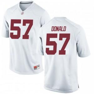 Youth Alabama Crimson Tide Joe Donald #57 College White Replica Football Jersey 227252-396