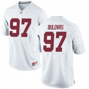 Youth Alabama Crimson Tide Joseph Bulovas #97 College White Game Football Jersey 775631-209