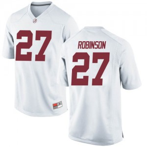 Youth Alabama Crimson Tide Joshua Robinson #27 College White Game Football Jersey 398098-193