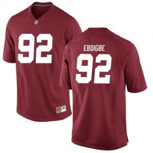 Youth Alabama Crimson Tide Justin Eboigbe #92 College Crimson Replica Football Jersey 389370-817
