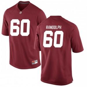 Youth Alabama Crimson Tide Kendall Randolph #60 College Crimson Game Football Jersey 297993-569