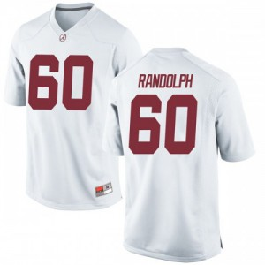 Youth Alabama Crimson Tide Kendall Randolph #60 College White Game Football Jersey 937683-553