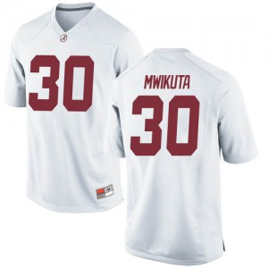 Youth Alabama Crimson Tide King Mwikuta #30 College White Game Football Jersey 349868-388