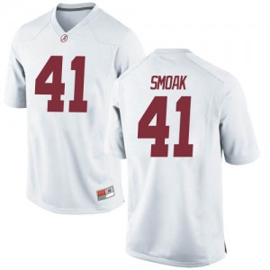 Youth Alabama Crimson Tide Kyle Smoak #41 College White Game Football Jersey 268405-648