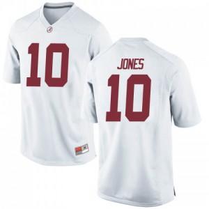 Youth Alabama Crimson Tide Mac Jones #10 College White Replica Football Jersey 801730-620