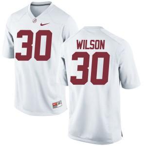 Youth Alabama Crimson Tide Mack Wilson #30 College White Game Football Jersey 594664-679