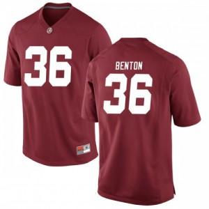 Youth Alabama Crimson Tide Markail Benton #36 College Crimson Replica Football Jersey 805288-783