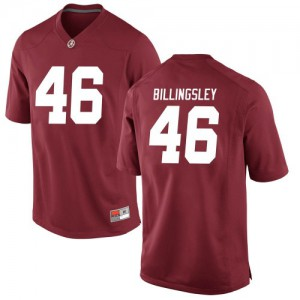 Youth Alabama Crimson Tide Melvin Billingsley #46 College Crimson Replica Football Jersey 190561-682
