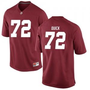 Youth Alabama Crimson Tide Pierce Quick #72 College Crimson Replica Football Jersey 568393-628