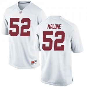 Youth Alabama Crimson Tide Preston Malone #52 College White Game Football Jersey 775399-352