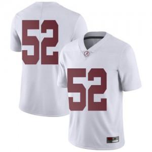 Youth Alabama Crimson Tide Preston Malone #52 College White Limited Football Jersey 560115-253