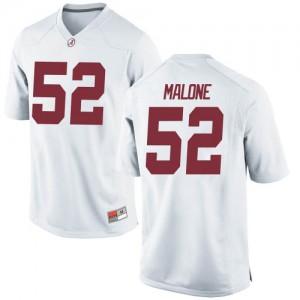 Youth Alabama Crimson Tide Preston Malone #52 College White Replica Football Jersey 976734-127