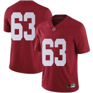 Youth Alabama Crimson Tide Rowdy Garza #63 College Crimson Limited Football Jersey 694831-231