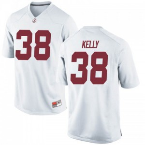 Youth Alabama Crimson Tide Sean Kelly #38 College White Game Football Jersey 977820-775