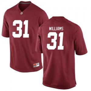 Youth Alabama Crimson Tide Shatarius Williams #31 College Crimson Game Football Jersey 381074-159