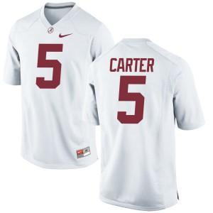 Youth Alabama Crimson Tide Shyheim Carter #5 College White Authentic Football Jersey 999629-698