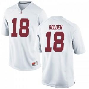 Youth Alabama Crimson Tide Slade Bolden #18 College White Replica Football Jersey 174688-225