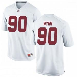 Youth Alabama Crimson Tide Stephon Wynn Jr. #90 College White Game Football Jersey 233693-138