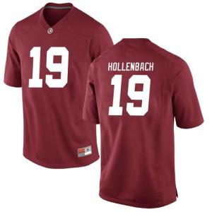 Youth Alabama Crimson Tide Stone Hollenbach #19 College Crimson Game Football Jersey 491220-528