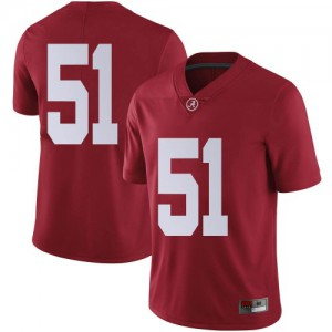 Youth Alabama Crimson Tide Tanner Bowles #51 College Crimson Limited Football Jersey 937360-717