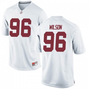 Youth Alabama Crimson Tide Taylor Wilson #96 College White Game Football Jersey 703516-661