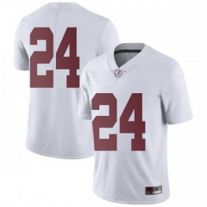 Youth Alabama Crimson Tide Terrell Lewis #24 College White Limited Football Jersey 552385-764