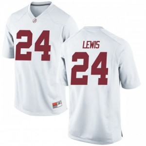 Youth Alabama Crimson Tide Terrell Lewis #24 College White Replica Football Jersey 168265-588