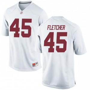Youth Alabama Crimson Tide Thomas Fletcher #45 College White Replica Football Jersey 832544-440