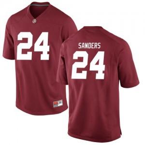 Youth Alabama Crimson Tide Trey Sanders #24 College Crimson Game Football Jersey 695986-434