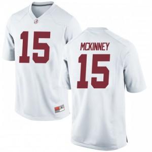 Youth Alabama Crimson Tide Xavier McKinney #15 College White Replica Football Jersey 594375-434