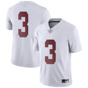 Youth Alabama Crimson Tide Xavier Williams #3 College White Limited Football Jersey 237120-494